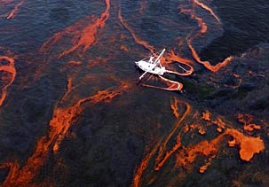 oil spill from the air not all of it though