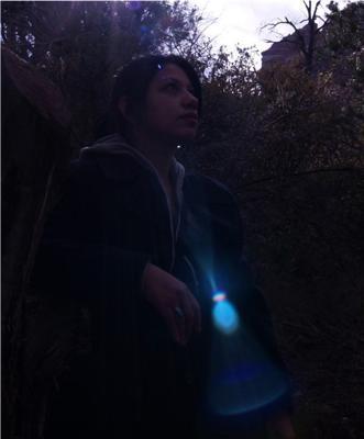 A blue light captured in a recent photo